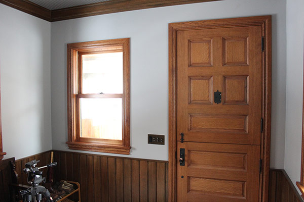 Wood Door and WIndow Sill